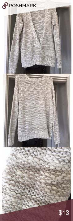 NWT Forever 21 Sparkle Sweater Open Back Size Large NWT has some silver sparkle in the pattern. Very pretty we just haven't worn it. Comes from a smoke free home. Forever 21 Sweaters