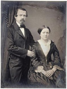 Oo, I don't like this photo. It's got a bad feel to it. are they in mourning?...1850 cdv vneck