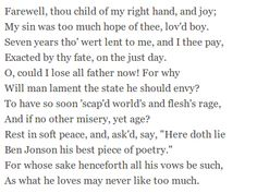 What Is The Greatest Difference Between Ben Jonsons Poems On My First Son And Songto Celia 7