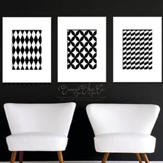 Dazzle your home or office with our chic new black and white geometric art prints  Available for instant download at http://etsycom/shop/sunnyskyeco  etsy home office decor black white art prints wallart  decorate interiordesign