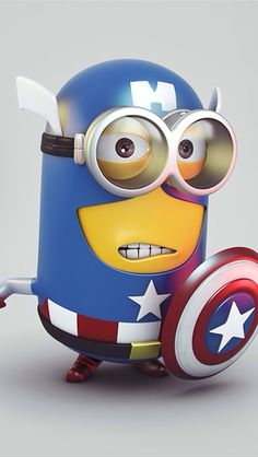 Captain America minion wallpaper