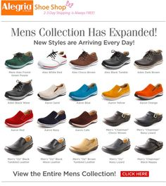 bc1dd9fa4c7b Largest Selection of Men s Alegria Shoe Lines For The Best Prices