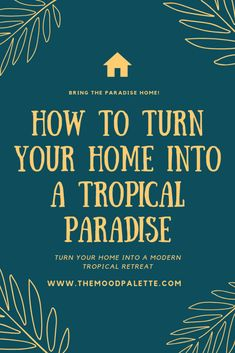 Summers have arrived and you can certainly give your home a special makeover with tropical home decor. tropical home decor and accessories Tropical Home Decor, Modern Tropical, Tropical Vibes, Parisian Chic Decor, Paradise Wallpaper, Pineapple Wallpaper, Bohemian Living Rooms, Teenage Girl Bedrooms, Palette