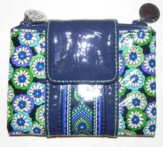 VERA BRADLEY BLUE RHAPSODY FRILL WALLET NEW in Clothing, Shoes & Accessories | eBay