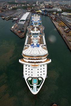 Arrival of our new - ship Royal Princess. Southampton England, June 7th 2013