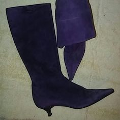 Auth. Prada Suede Boots Size 37 M Preowned Great Condition Prada Shoes Heeled Boots