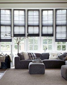 Woonkamer Vouwgordijnen Van Bece In Grijstinten Livingroom Grey