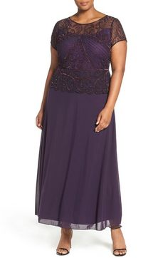 Pisarro Nights Sequin Mesh Gown (Plus Size) available at #Nordstrom