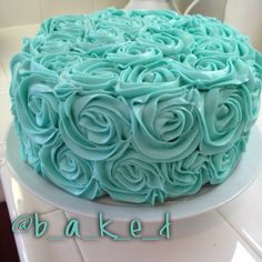 Rosette Cake Tiffany & Co Bridal Shower Treats Dessert Tiffany cake pop Engagement ring cake pops aqua Tiffany blue wedding food