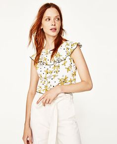 Image 3 of FLORAL PRINT CROP TOP from Zara
