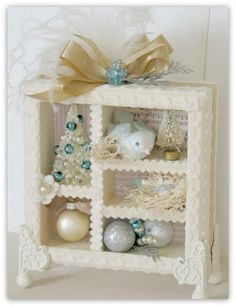 life in my studio: Christmas Shadowboxes & More Ornaments