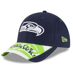 70bf3d11cab Seattle Seahawks New Era Logo Scramble 9FORTY Adjustable Hat - College Navy