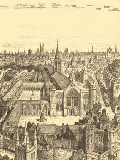 Vintage print, with descriptive tissue guard overlay highlighting notable features/locations, approximate size x 9 x inches London Pictures, London Photos, Old London, London City, London Drawing, Broken Mirror, London Landmarks, London History, Historic Houses