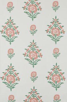 Simla - Coral/Green – Peter Dunham Textiles