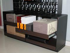 #Portabottiglie in acciaio #Esigo 2 Net + Esigo 2 Box con ripiani estraibili per #stoccaggio #bottiglie e #scatole #vino
