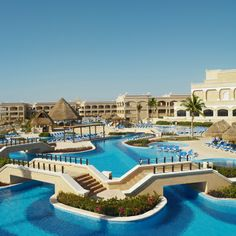 Hard Rock Riviera Maya Fantastic pools - swim up bars - on the beach.