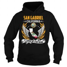 Make this funny name shirt San Gabriel, California - Its Where My Story Begins as a great for you or someone who named Gabriel