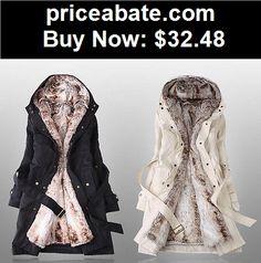 Women-Coats-And-Jackets: Women Warm Winter Coat Hood Parka Overcoat Long Jacket Outwear Coat With Belt - BUY IT NOW ONLY $32.48
