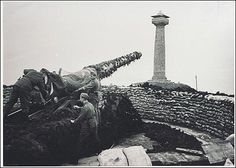 German Artillery and Doyle Monument. The only British territory occupied by the Nazi Army during WWII. Courtesy of Guernsey Museum & Galleries, States of Guernsey, 2009.