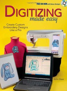 Digitizing Made Easy: Create Custom Embroidery Designs Like a Pro: John Deer: Brother Embroidery Machine, Machine Embroidery Projects, Embroidery Software, Machine Embroidery Applique, Embroidery Techniques, Embroidery Stitches, Embroidery Monogram, Custom Embroidery, Embroidery Ideas