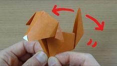 超カワイイ!動く折り紙「しっぽをふる犬」作り方 Origami Dog Wagging its Tail - YouTube