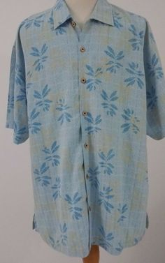 Tommy Bahama Signature Mens Size XXL Silk Blues Casual Hawaiian Shirt  #TommyBahamaSignature #Hawaiian