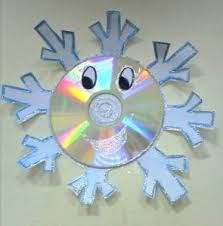 with old cd Preschool Christmas, Christmas Activities, Christmas Crafts For Kids, Winter Christmas, Kids Christmas, Holiday Crafts, Cd Crafts, Snowman Crafts, Preschool Crafts