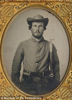 An unidentified soldier left this ambrotype of himself with Mrs. L.M.C. Lee of Corinth, Mississippi, on the eve of the battle of Shiloh. The soldier never reclaimed his image and was presumed to have been killed in battle