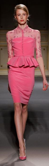 #Georges Hobeika - Haute Couture Spring 2013  peplum  #2dayslook #new style #peplumdresses  www.2dayslook.com