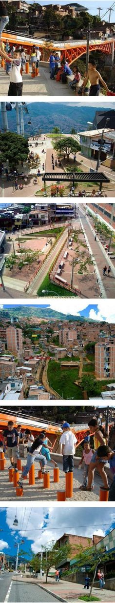 People-friendly streets in Medellín, Colombia. Click image for link to full profile via Architecture for Humanity, and visit the slowottawa.ca boards >> https://www.pinterest.com/slowottawa/
