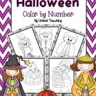 FREE! The Halloween Color by Number Packet contains 5 coloring by number pages. This is a cute activity for young children who are still developing a rec...