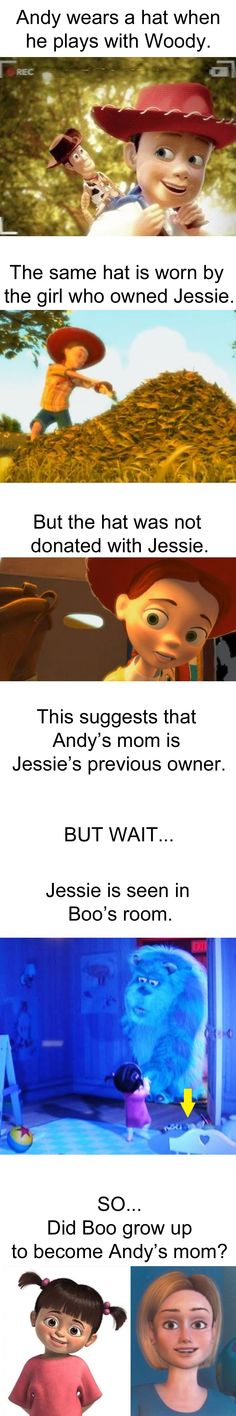 Did Boo from Monsters Inc. grow up to become Andy's mom in Toy Story? no probably not
