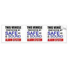 3 in 1 Fake Alarm System Sticker for your car! Alarm Companies, Security Companies, Home Security Systems, Car Sit, Honor Roll, Security Alarm, Security Cameras For Home, House Windows, Alarm System