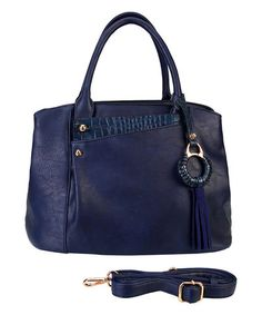 Love this Navy Tassel Multi-Compartment Tote on #zulily! #zulilyfinds