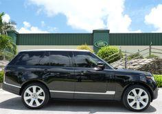 2013 Land Rover Range Rover in Santorini Black Metallic http://www.landroverpalmbeach.com/
