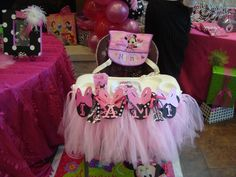 Minnie Mouse Party ~ Decorations ~ 1st Birthday ~ High Chair