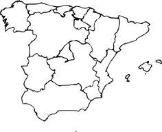Regions of Spain blank map