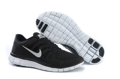 Nike Free 5.0 + Männer Schwarz Metallic Silber Dunkle Grau