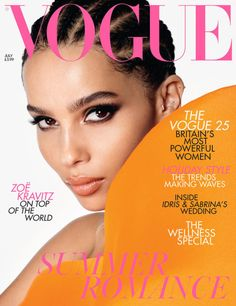 'Big Little Lies' star Zoe Kravitz is the cover star of Vogue UK, issue of July The actress is photographed by Steven Meisel with . Zoe Kravitz, Vogue Covers, Vogue Magazine Covers, Steven Meisel, Vogue Uk, Vogue Russia, Vogue Paris, Teen Vogue, Manish