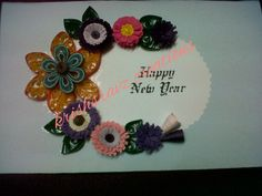 Quilling new yr card