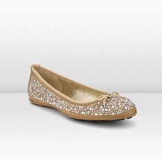 Jimmy Choo - Weber - 365webernscy - NudeSuede and Crystal Ballerinas - The Weber is part of the Cruise collection. These dainty nude ballerina pumps in gorgeous suede have a small front bow and are embellished with dazzling crystals for daytime chic. Flat heel.