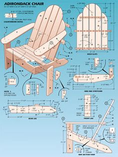 Free Woodworking Plans: Adirondack Chair Plans wonder if I could do this without losing a limb