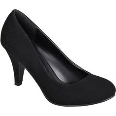 Brinley Co. Women's Round Toe Solid Color Pumps, Size: 8.5, Black