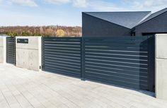 Concrete, Garage Doors, Outdoor Decor, Design, Home Decor, Black, Blue, Homemade Home Decor