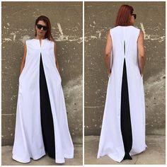 Linen Dress White Linen Dress Plus Size Maxi Kaftan White Flattering Plus Size Dresses, Dress Plus Size, Plus Size Maxi Dresses, Plus Size Outfits, Tunic Dresses, Dress Tops, Wrap Dresses, Look Fashion, Skirt Fashion