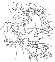 Traditional Tattoo Skull Outline Water skull outline by Tattoo Stencil Designs, Skull Tattoo Design, Tattoo Stencils, Traditional Tattoo Skull, Brush Tattoo, Heart Outline, Infinity Tattoos, Tattoo Outline, Leather Pattern