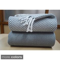 Soft 100-percent Cotton Hand Twisted Throw 50x60 (Set of 2)