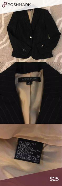 NWOT's Anne Klein Blazer NWT's Anne Klein Black Pin Stripe Blazer.  Classy.  Size 0. Anne Klein Jackets & Coats Blazers