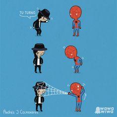 Battle for MJ and Spiderman Michael Jackson Cartoon, Michael Jackson Art, Michael Jackson Smooth Criminal, Dead Pool, Marie Curie, Marvel Dc, Deadpool X Spiderman, Superman, Cultura Nerd