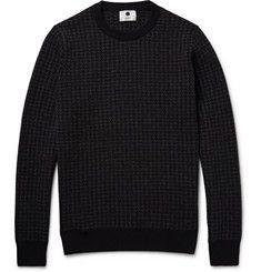 NN.07Conrad Houndstooth Wool-Blend Sweater